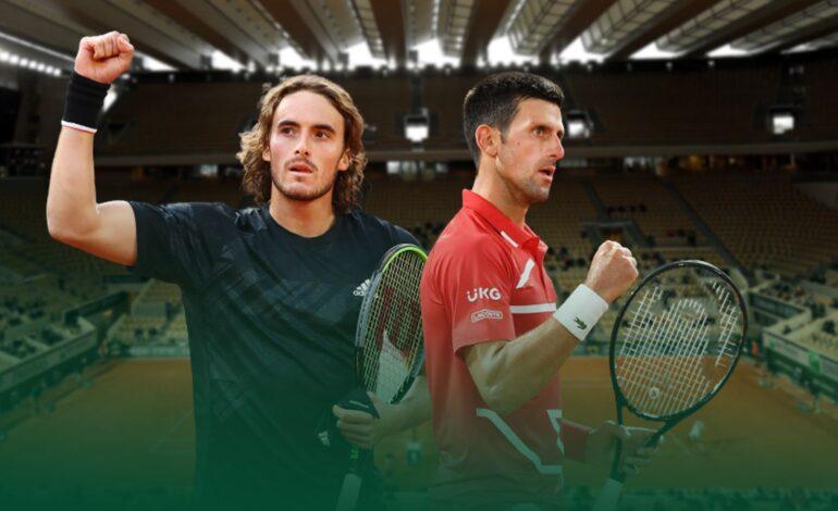 Roland Garros:Στέφανος Τσιτσιπάς-Νόβακ Τζόκοβιτς